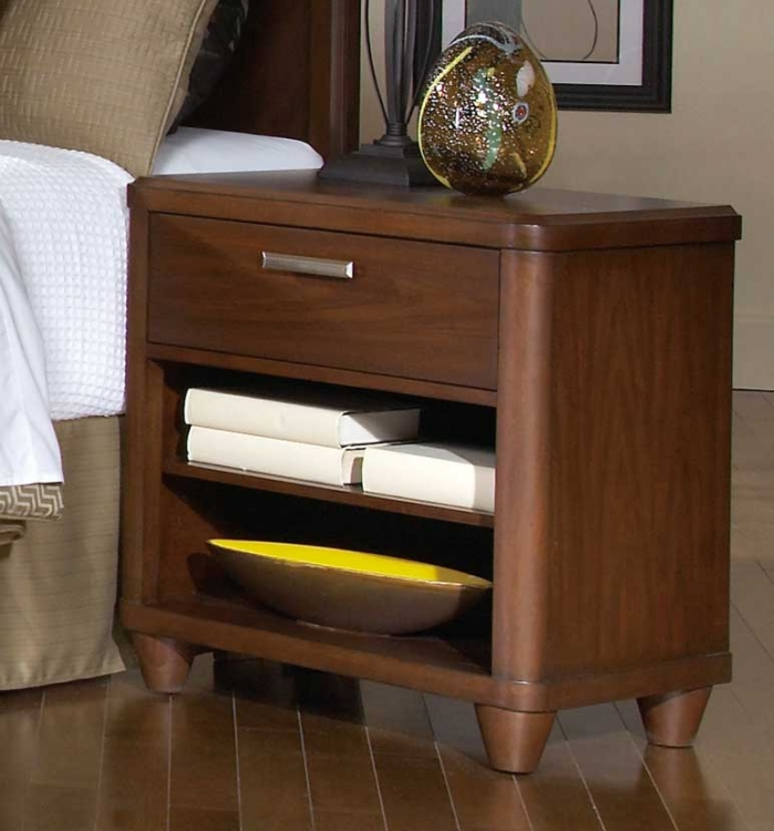 Beaumont Night Stand - Brown Cherry - Homelegance