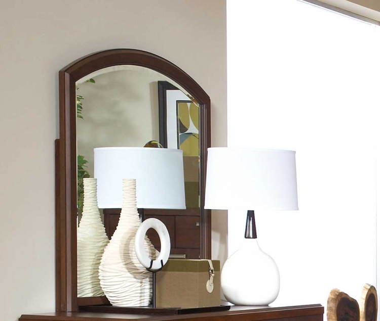 Beaumont Mirror - Brown Cherry