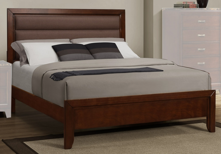 Bleeker Bed - Brown Upholstery - Homelegance