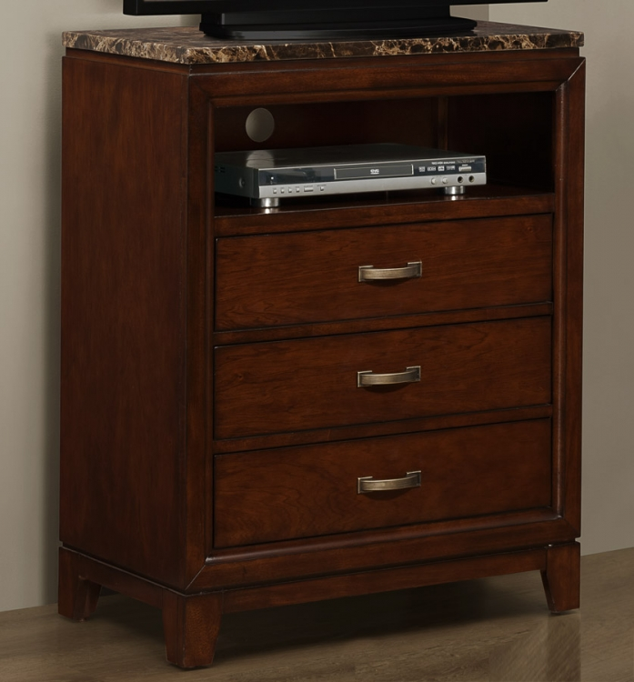 Ottowa TV Chest - Faux Marble Top