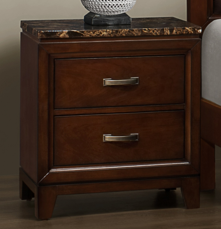 Bleeker Night Stand - Faux Marble Top - Homelegance