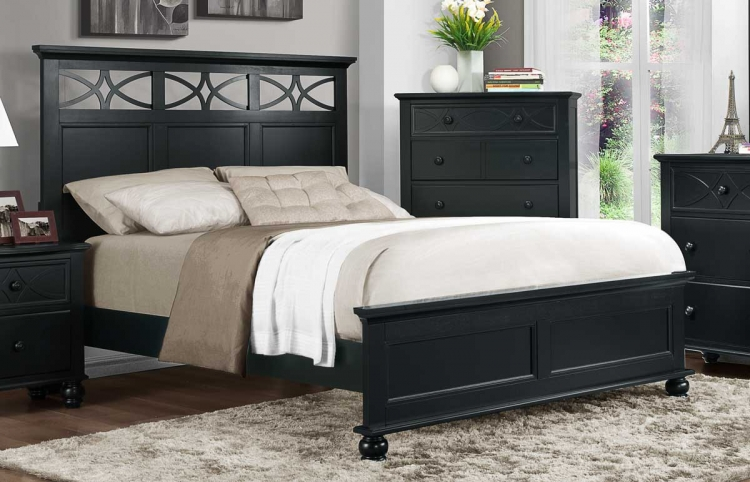 Sanibel Bed - Black - Homelegance