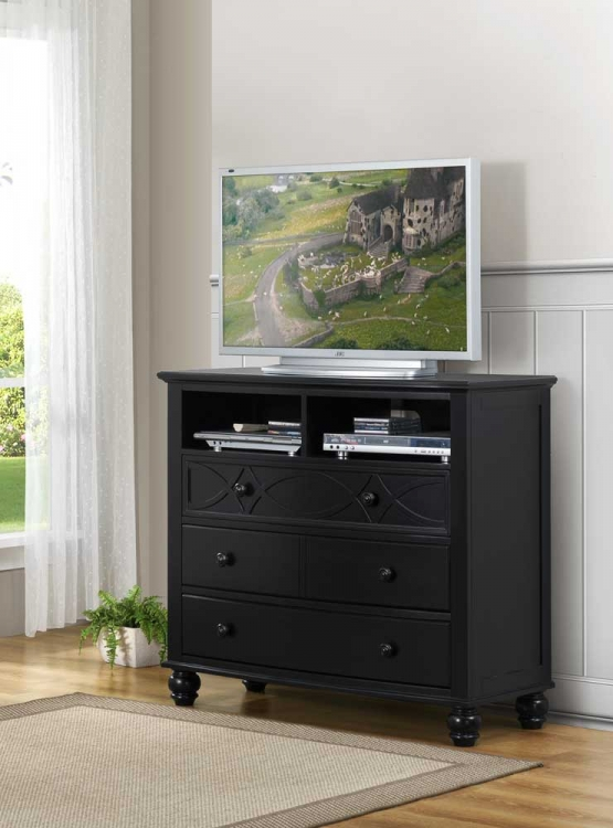 Sanibel TV Chest - Black - Homelegance