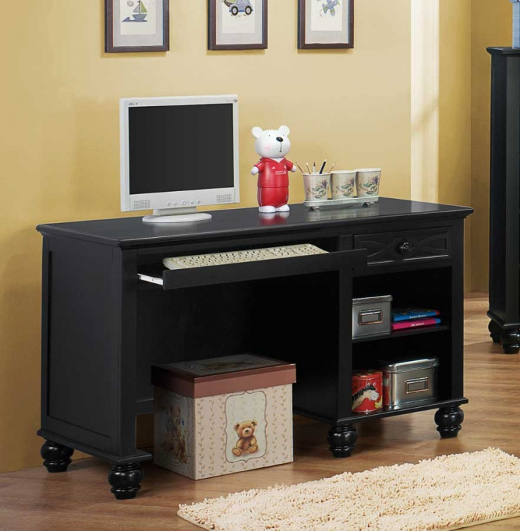 Sanibel Writing Desk - Black - Homelegance