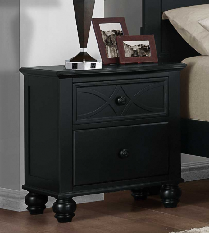 Sanibel Night Stand - Black - Homelegance