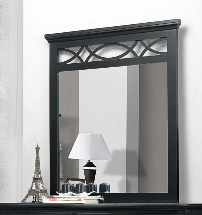 Sanibel Mirror - Black - Homelegance