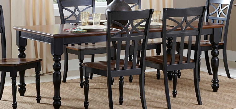 Sanibel Dining Table - Cherry/Black