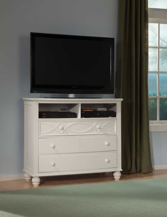 Sanibel TV Chest - White