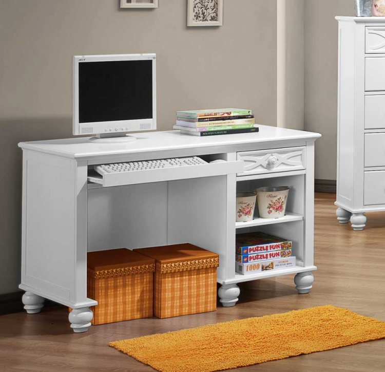 Sanibel Writing Desk - White - Homelegance