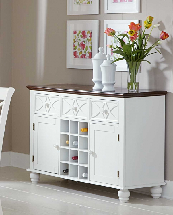 Sanibel Server - Cherry/White - Homelegance