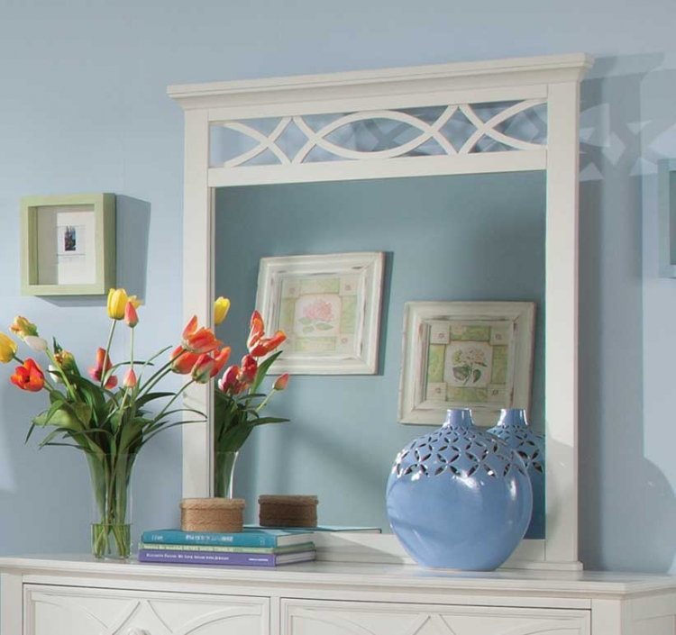 Sanibel Mirror - White - Homelegance