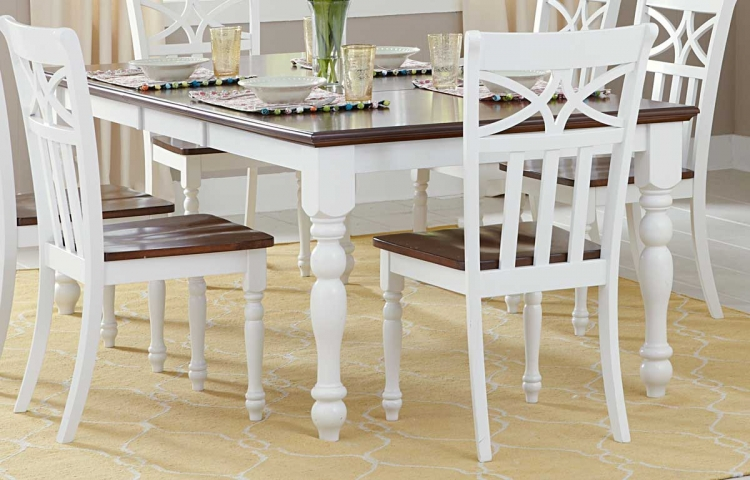 Sanibel Dining Table - Cherry/White - Homelegance