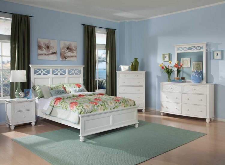 Sanibel Bedroom Set - White - Homelegance
