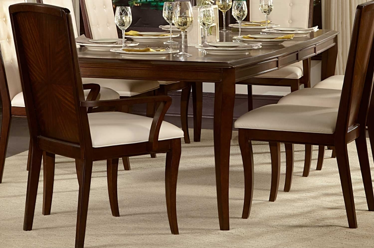 Abramo Dining Table - Sapele/Walnut Inlay