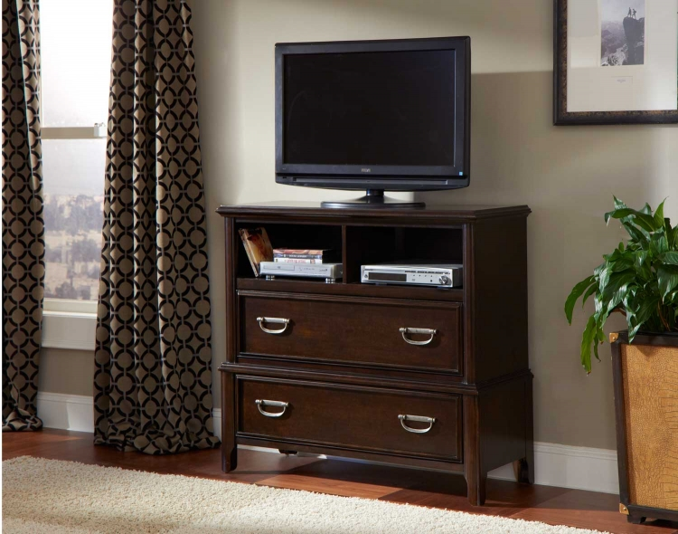 Beaux TV Chest - Dark Cherry