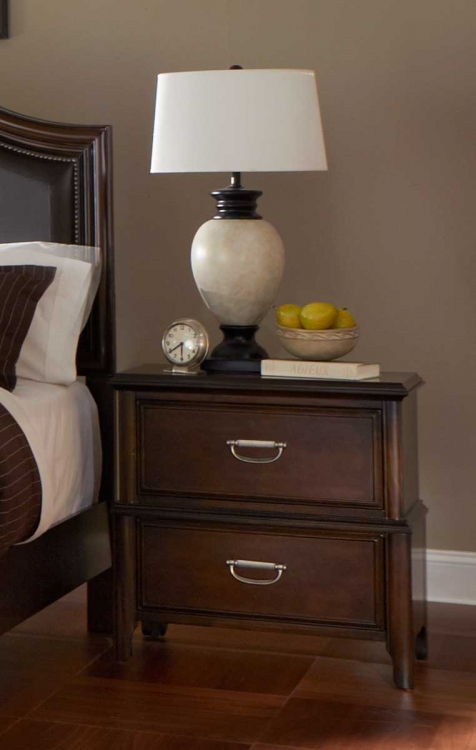 Beaux Night Stand - Dark Cherry