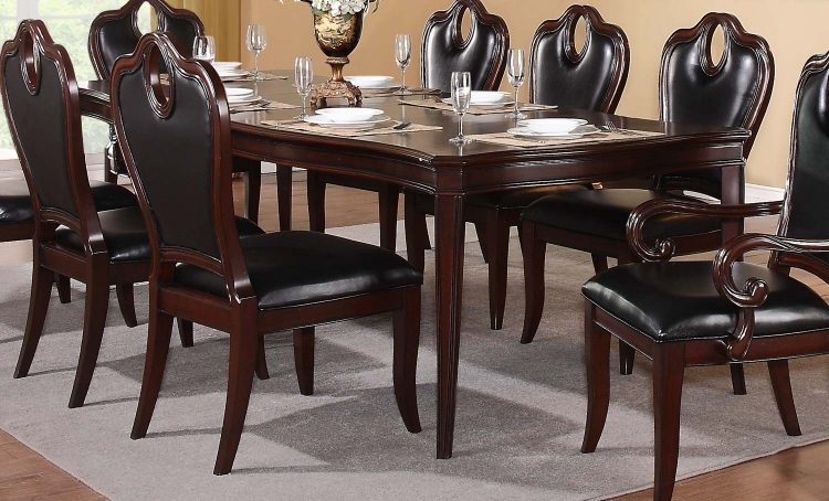 Agatha Leg Dining Table - Rich Cherry