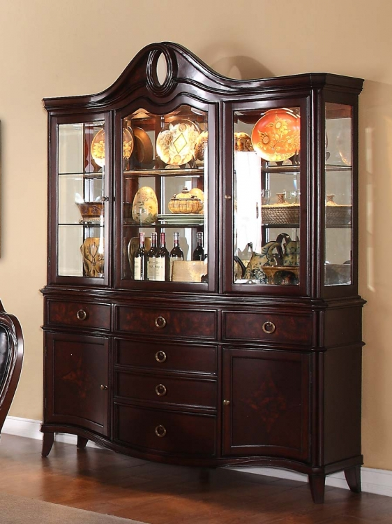 Agatha China Cabinet - Rich Cherry - Homelegance
