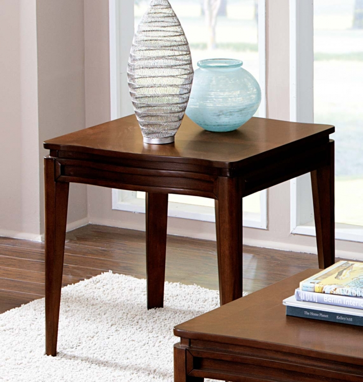 Kasler End Table - Medium Walnut - Homelegance