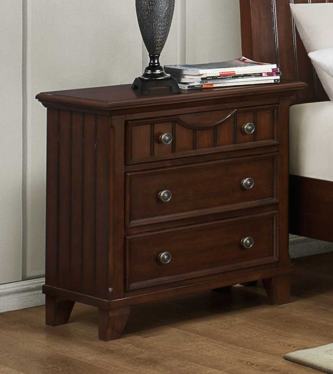 Alyssa Night Stand - Cherry - Homelegance