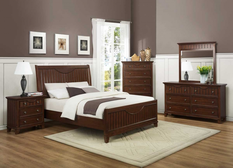 Alyssa Bedroom Set - Cherry - Homelegance