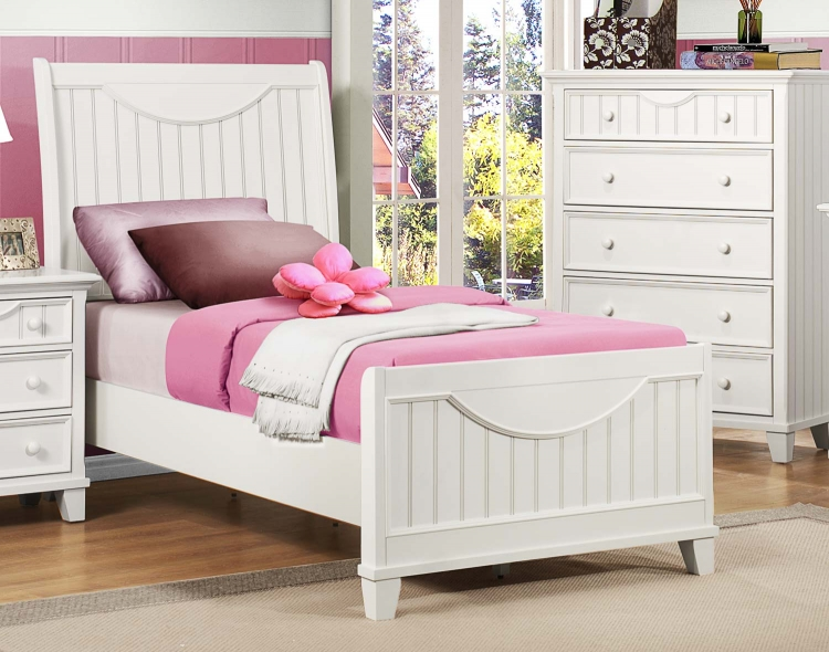 Alyssa Youth Bed - White - Homelegance