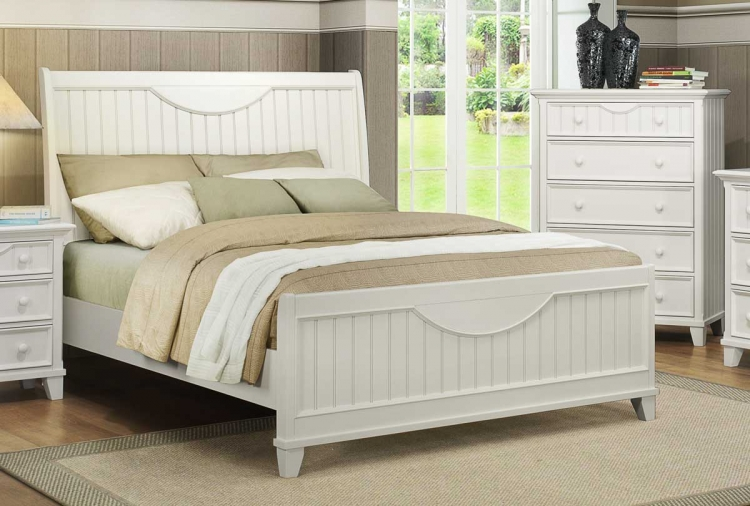 Alyssa Bed - White - Homelegance