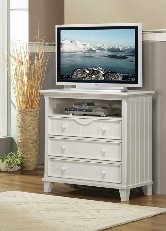 Alyssa TV Chest - White - Homelegance