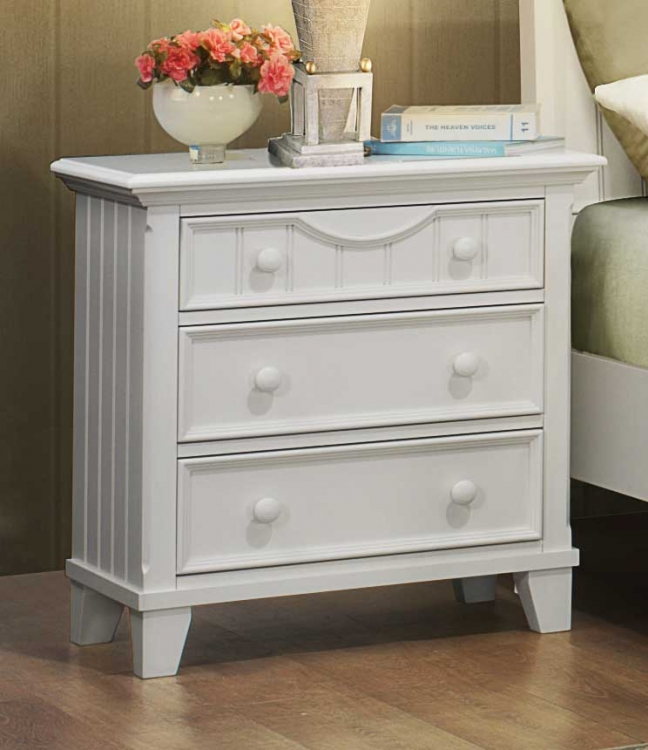 Alyssa Night Stand - White