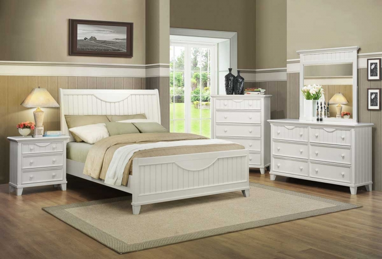 Alyssa Bedroom Set - White - Homelegance