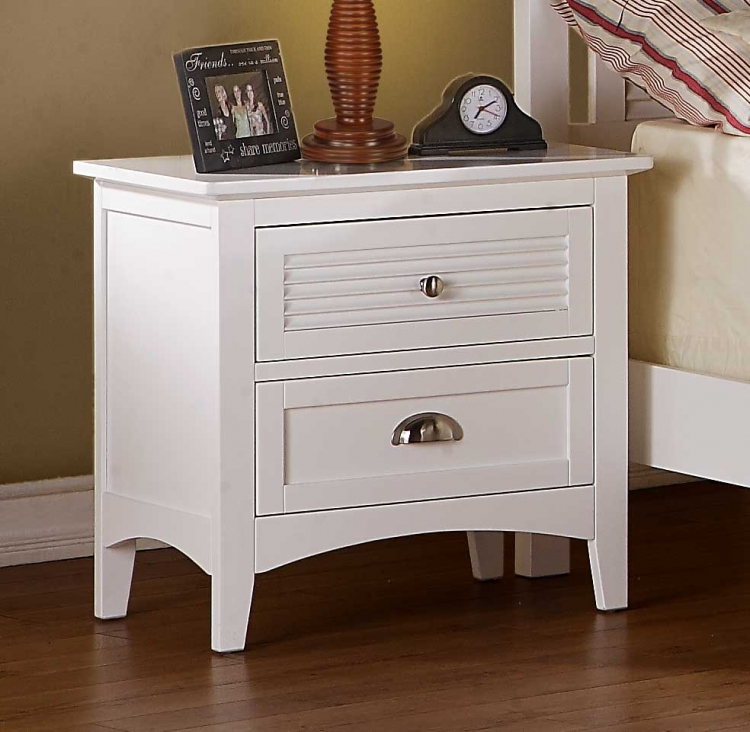 Robinson Night Stand - White