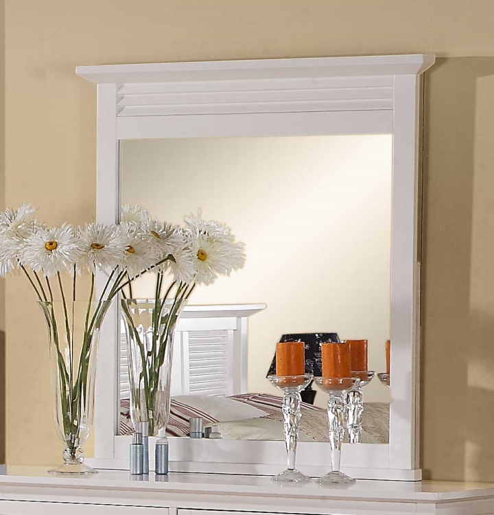 Robinson Mirror - White - Homelegance