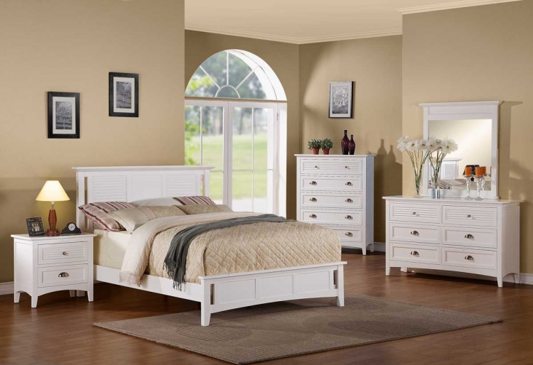 Robinson Bedroom Set - White - Homelegance