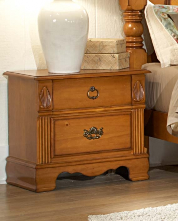Archdale Night Stand - Pine - Homelegance
