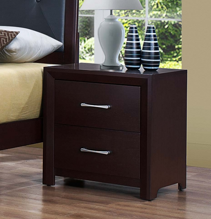 Edina Night Stand - Brown Espresso