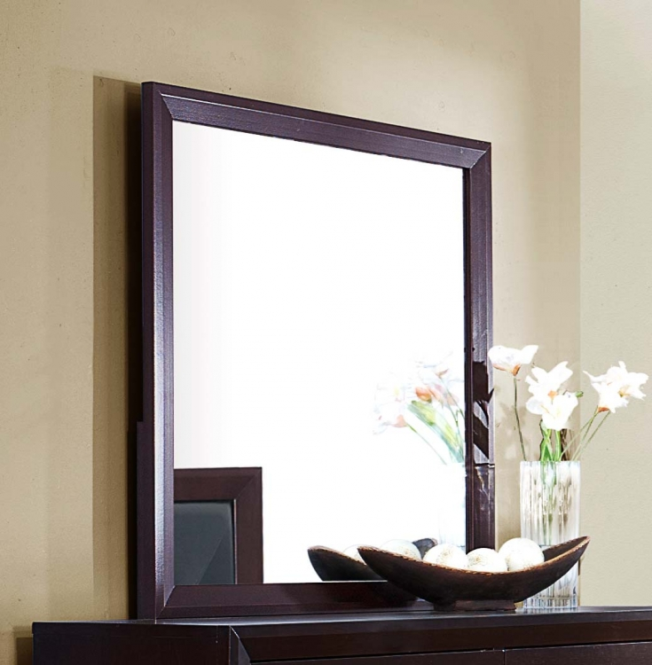 Edina Mirror - Brown Espresso