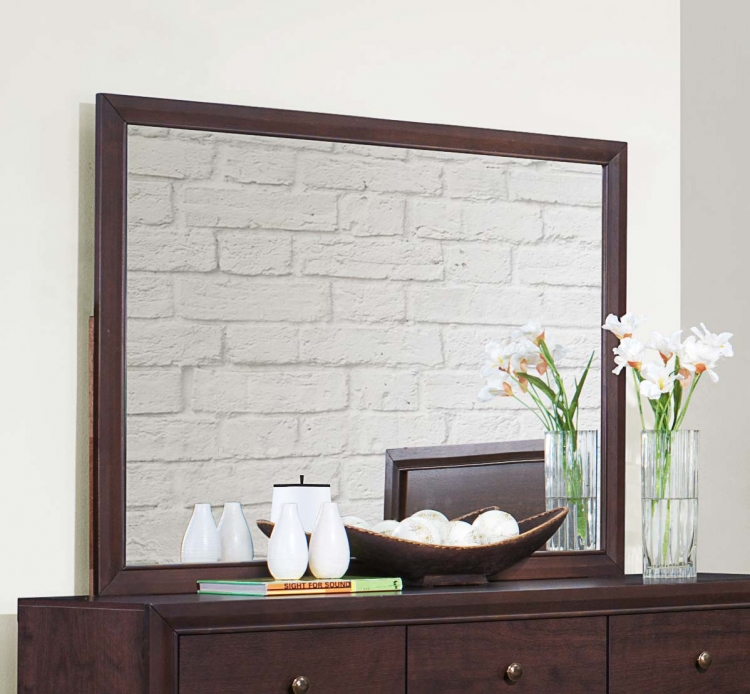 Kari Mirror - Warm Brown Cherry