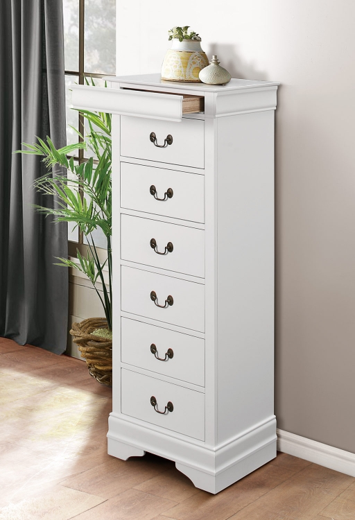 Mayville Lingerie Chest - White