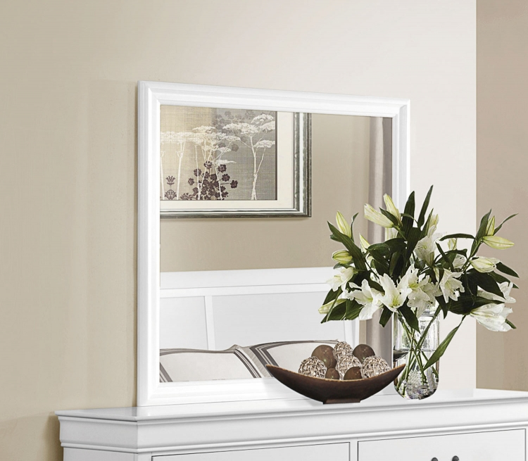 Mayville Mirror - White