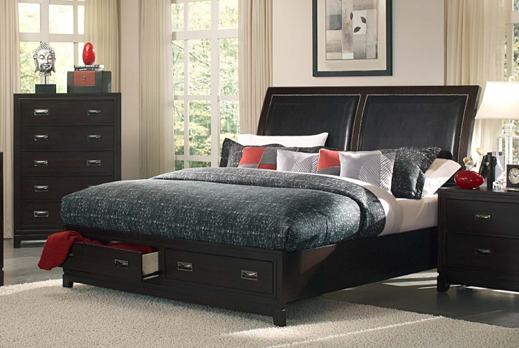 Lindley Platform Bed - Black - Homelegance