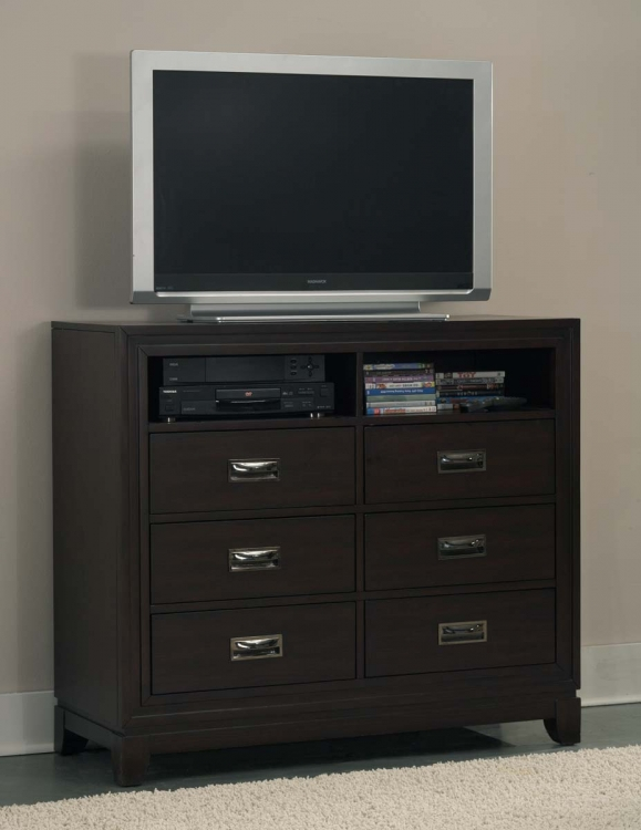 Lindley TV Chest - Black - Homelegance