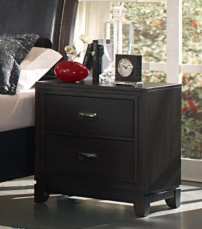 Lindley Night Stand - Black - Homelegance