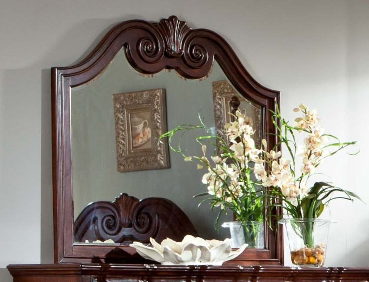 Guilford Mirror - Brown Cherry