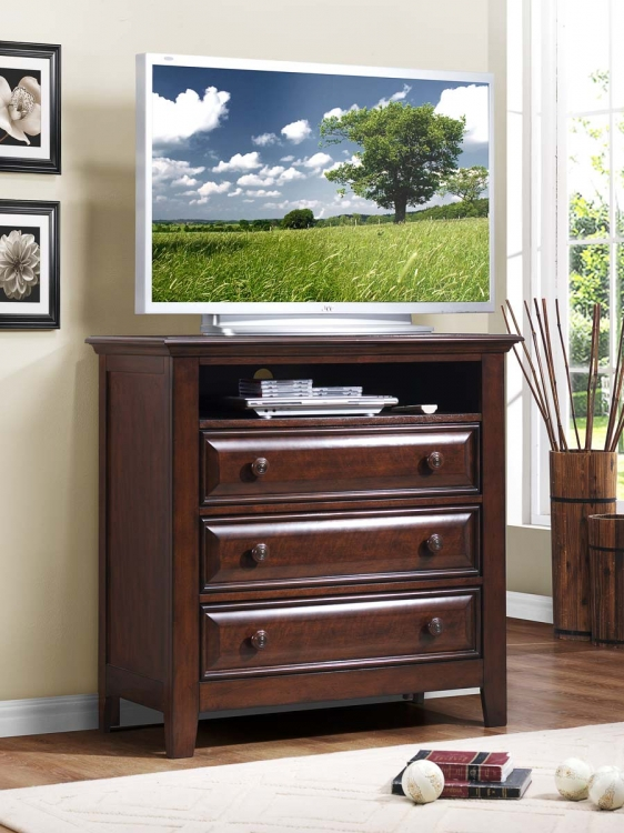 Sunderland TV Chest - Black - Homelegance