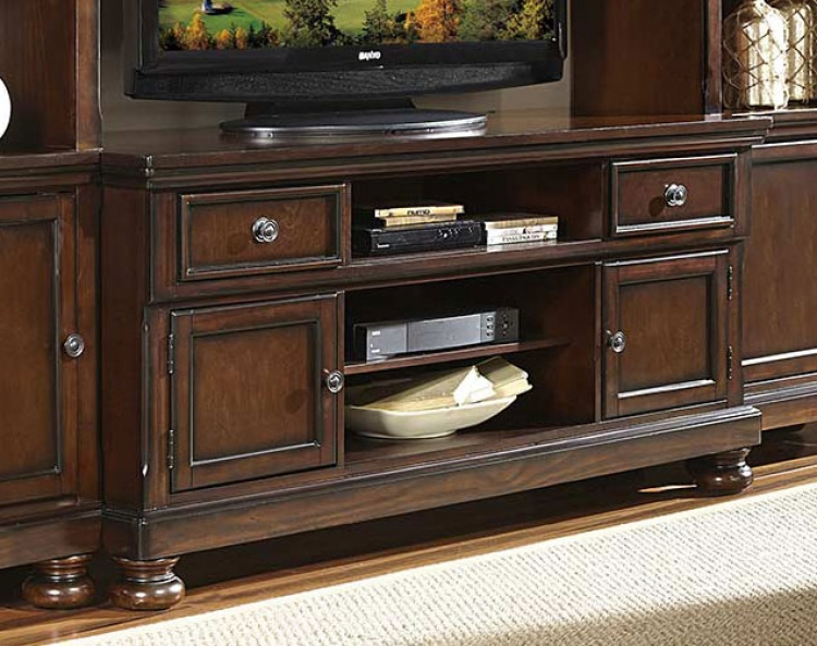 Cumberland TV Stand - Rich Medium Brown