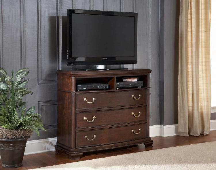 Wrentham TV Chest - Black - Homelegance
