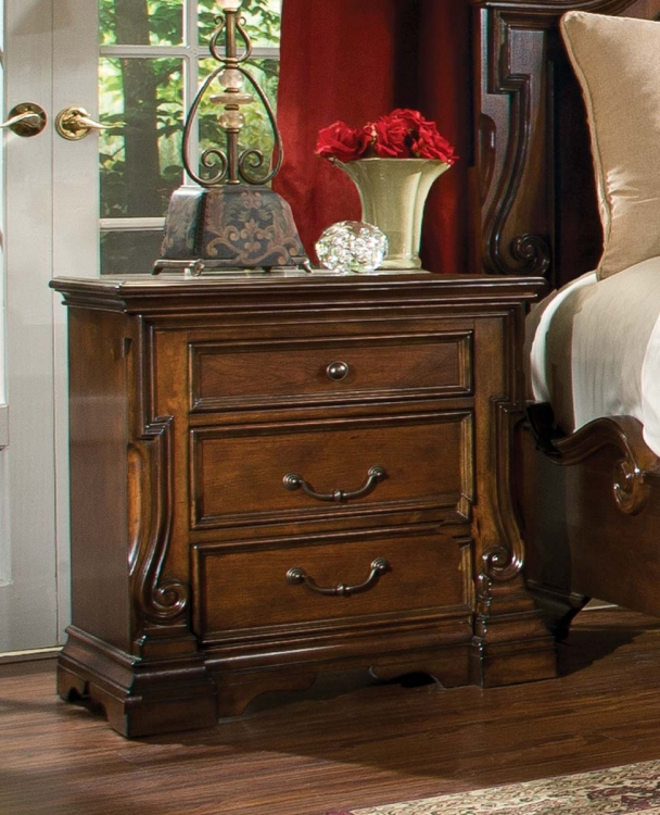 Havenwood Night Stand - Cherry - Homelegance