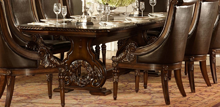 Orleans Trestle Dining Table - Cherry - Homelegance