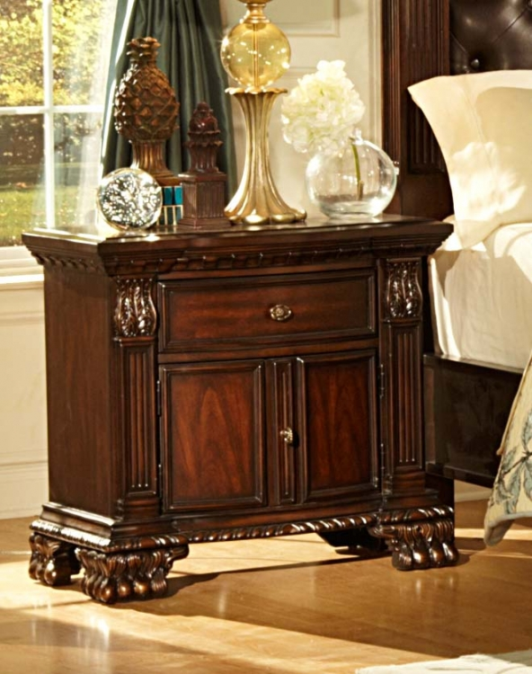 Orleans Night Stand - Cherry - Homelegance