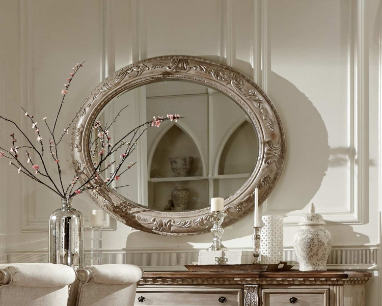 Orleans II Server Mirror - White Wash